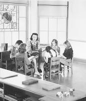 1943 Second Grade Reading Group in Alcove
