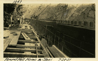 Lower Baker River dam construction 1925-07-28 Parapet Wall Forms and Steel