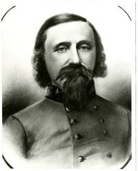 Copy of charcoal drawing of Captain George Pickett