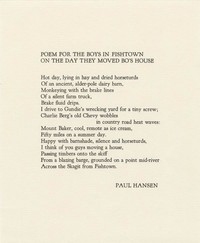 Poem for the Boys in Fishtown on the Day They Moved Bo's House