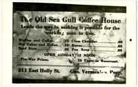 Old Sea Gull Coffee House Menu