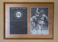 Hall of Fame Plaque: Rob Visser, Basketball, Class of 2011