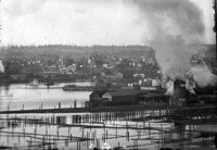 View of Bellingham, WA, waterfront and harbor area.