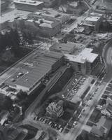 1972 Aerial View of Viking Union Complex & Performing Arts Center Construction