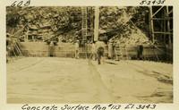 Lower Baker River dam construction 1925-05-24 Concrete Surface Run #113 El.304.3