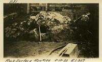 Lower Baker River dam construction 1925-08-10 Rock Surface Run #184 El.307