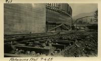 Lower Baker River dam construction 1925-07-06 Retaining Wall