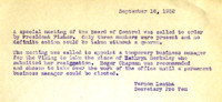 AS Board Minutes 1932-09