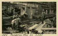 Lower Baker River dam construction 1925-05-07 Foundation Steel 2S