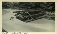 Lower Baker River dam construction 1924-11-19 Damaged cofferdam
