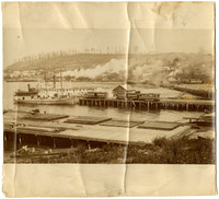 Construction of Pacific American Fisheries salmon cannery