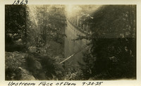Lower Baker River dam construction 1925-09-20 Upstream Face of Dam