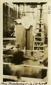 Lower Baker River dam construction 1925-09-10 Main Transformer in P.H.