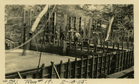 Lower Baker River dam construction 1925-02-18 Run #19 - Square sluiceway boxes?