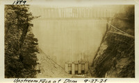 Lower Baker River dam construction 1925-09-27 Upstream Face of Dam