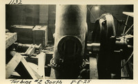 Lower Baker River dam construction 1925-08-08 Turbine #2 South