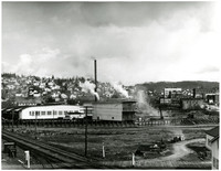 Bellingham Plywood Company and view of South Hill and South Bellingham