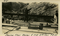 Lower Baker River dam construction 1925-07-08 Placing Floor Beams E. Side 4th Floor