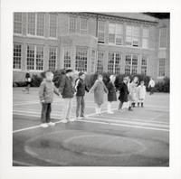1965 Third Grade Playing Red Rover
