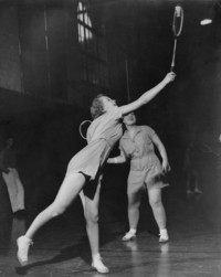 1948 Badminton:  Barbara McInnes and Dorothy McLand