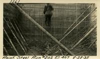 Lower Baker River dam construction 1925-08-28 Reinf Steel Run #202 El.407