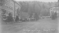 1927 Campus Day: Crowd in Line