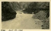 Lower Baker River dam construction 1924-09-23 Flood area