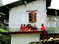 Mini-Monks at the Tawang Monastery - India