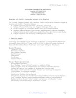 WWU Board of Trustees Minutes: 2014-06-13