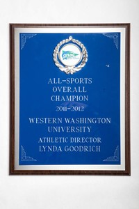 General Plaque: All-Sports Overall Champion, Athletic Director Lynda Goodrich, 2011/2012