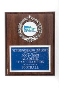 Football Plaque: GNAC Academic Team Champion, 2004/2005