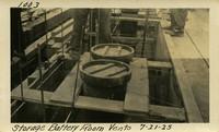 Lower Baker River dam construction 1925-07-21 Storage Battery Room Vents