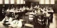 1930 Fourth Grade Reading Hour In The Children's Library