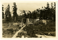 Mt. Baker Lodge Site - Heather Inn in the Making for Use 1926