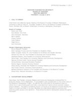 WWU Board of Trustees Minutes: 2014-10-9