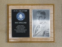 Hall of Fame Plaque: Dick Bruland, Football (Halfback), Class of 1978