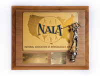 Golf (Men's) Plaque: NAIA District I Champions, 1973