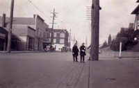 1934 Pattison Twins Waiting For The Street Car At Holly and G Streets