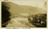 Lower Baker River dam construction 1925-11-20 Lake Shannon (with railroad trestle)