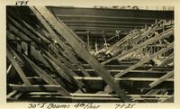 Lower Baker River dam construction 1925-07-01 30 I-Beams 4th Floor