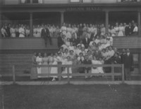 1912 Student Groups on steps of Edens Hall