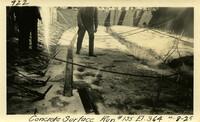 Lower Baker River dam construction 1925-07-08 Concrete Surface Run #155 El.364