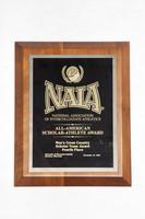 Cross-Country Running (Men's) Plaque: NAIA All-American Scholar-Athlete Award, Scholar Team Awa