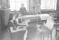 1942 Fifth Grade Students Work on Projects (Class 5-A)