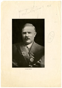 Portrait of Jacob Beck wearing honorary ribbon and sash