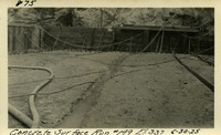 Lower Baker River dam construction 1925-06-30 Concrete Surface Run #149 El.337
