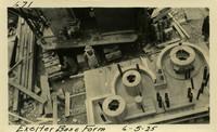 Lower Baker River dam construction 1925-06-05 Exciter Base Form