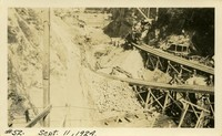 Lower Baker River dam construction 1924-09-11 Excavation on dam site