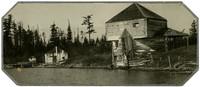 English Camp, San Juan Island  - dilapidated bulding and dock, and territorial block house