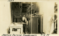 Lower Baker River dam construction 1925-09-16 Station Service Transformers